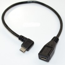 25cm micro usb 5pin male to female extension cable