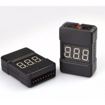 BX100 1-8S Lipo Battery low Voltage Tester Buzzer Alarm Battery Volt Checker with Dual Speakers(LOW COST)