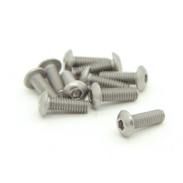 Titanium M4 x 12mm Dome Head Hex Screw (10pcs/bag)