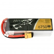 Tattu 6750mAh 14.8V 25C 4S1P Lipo Battery (XT60)
