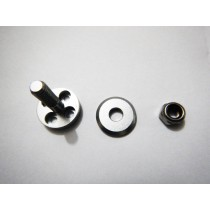 Alloy Prop Adapter to suit 4mm shaft Silver