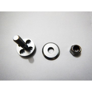Alloy Prop Adapter to suit 4mm shaft Silver W/O Screws