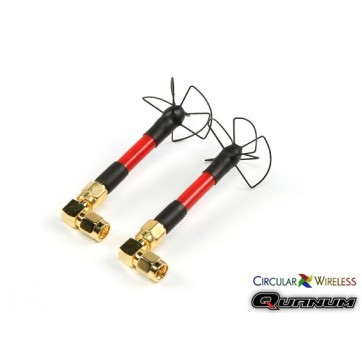 Quanum Circular Wireless SPW58 LHCP Antenna Race Set for 5.8GHz Transmitters (SMA) (JA)