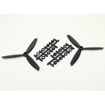 Counter Rotating Three Blade 5x4.5 Propeller -Black (1Pair/Bag)